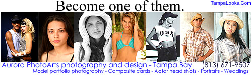 Become one of our models, actors, and talent. Photography and design services in Tampa Bay.